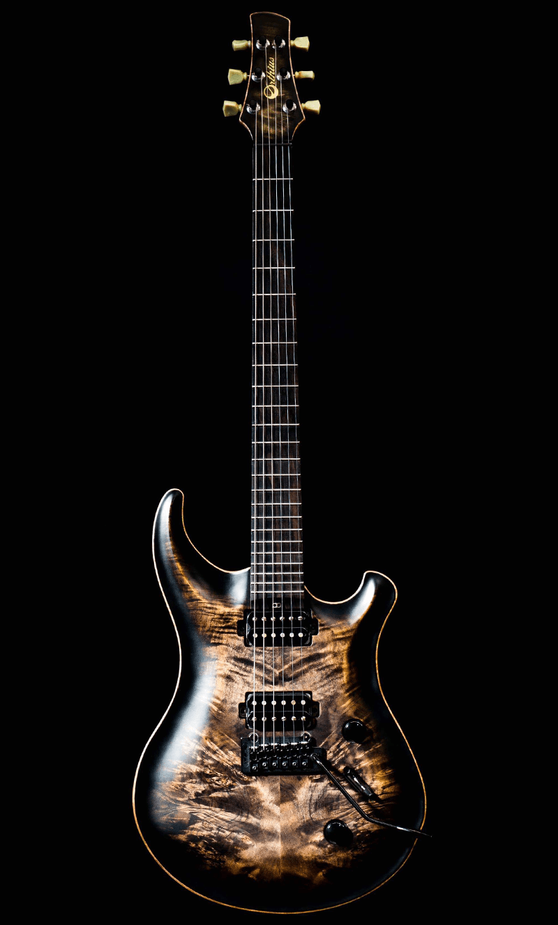 The Orthius CW DC guitar front profile